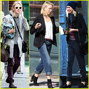 Naomi Watts Bundles Up for Fall in New York City!
