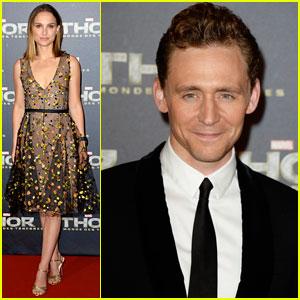Natalie Portman & Tom Hiddleston: 'Thor' Paris Premiere