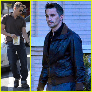 New Dad Olivier Martinez Goes Solo While Running Errands
