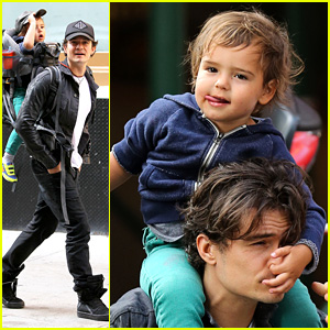 Orlando Bloom Gets His Nose Picked By His Son Flynn