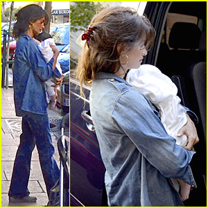 Penelope Cruz: First Outing with Covered Up Luna!