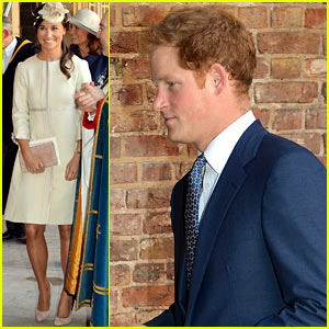 Prince Harry & Pippa Middleton Attend Prince George's Christening