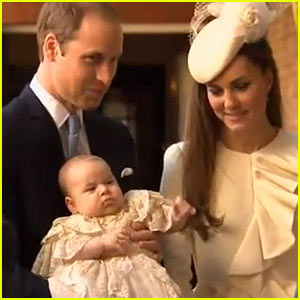 Prince George's Christening Photo with Kate Middleton & Prince William