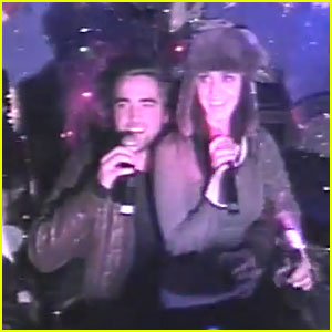Robert Pattinson & Katy Perry Karaoke Video from 2008 - Watch Now!
