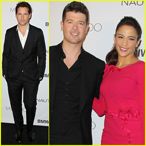 Robin Thicke & Paula Patton: GQ Gentlemen's Ball 2013