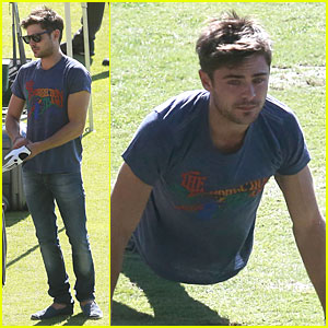 Zac Efron Golfs for 26th Birthday Celebration!