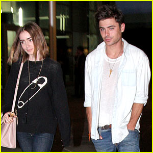 Zac Efron & Lily Collins: Movie Night Out in Hollywood!