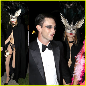 Adam Levine & Behati Prinsloo Hold Hands After Halloween Party