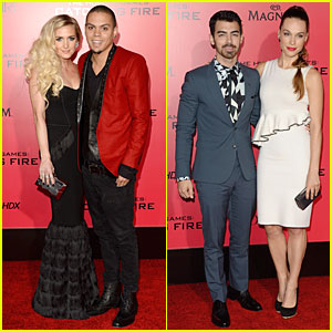 Ashlee Simpson & Evan Ross: 'Catching Fire' L.A. Premiere!