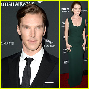 Benedict Cumberbatch & Alice Eve - BAFTA Britannia Awards 2013 Red Carpet