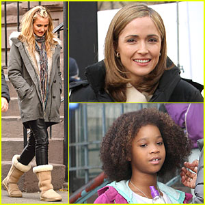 Cameron Diaz Litters in Front of Quvenzhane Wallis for 'Annie'