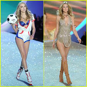 Cara Delevingne & Toni Garrn - Victoria's Secret Fashion Show 2013