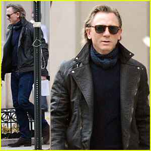 Daniel Craig Rocks Leather for 'Betrayal' Arrival!