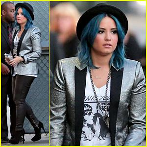Demi Lovato Stops by 'Jimmy Kimmel Live!'