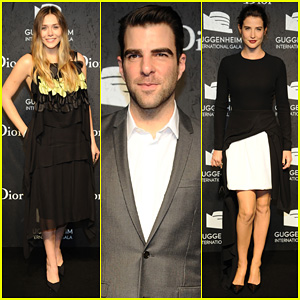 Elizabeth Olsen & Zachary Quinto: Guggenheim International Gala Pre-Party!