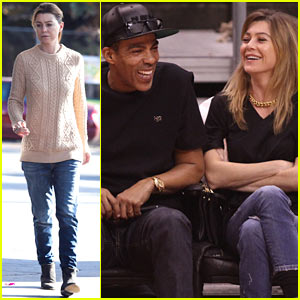 Ellen Pompeo Cheers on the Clippers with Hubby Chris Ivery!