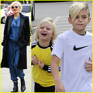 Gwen Stefani Spends Saturday with her Family!