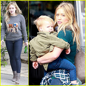 Hilary Duff: Breakfast & Shopping with Luca!