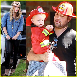 Hilary Duff & Mike Comrie Celebrate Halloween with Luca!