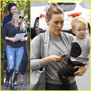 Hilary Duff Thanks Paparazzi for Taking 'Sweet Pic' of Luca