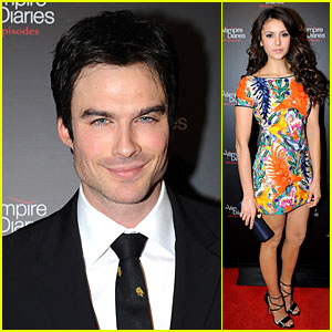 Ian Somerhalder & Nina Dobrev: 'Vampire Diaries' 100th Episode Celebration!
