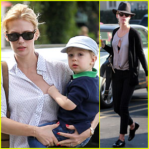 January Jones Avoids Wardrobe Malfunction in Beverly Hills!