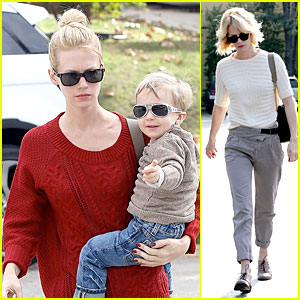 January Jones & Xander: Sunglasses Sporting Pair!
