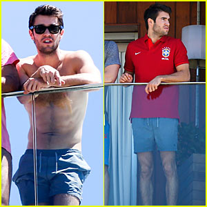 Josh Bowman: Shirtless in Brazil, 'John John' Store Opening!
