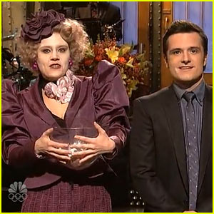 Josh Hutcherson & 'SNL' Cast Recreate 'Hunger Games' for Opening Monologue!