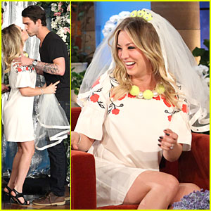 Kaley Cuoco: Fake Wedding to Ryan Sweeting on 'Ellen'!