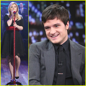 Kelly Clarkson & Josh Hutcherson Visit 'Jimmy Fallon'