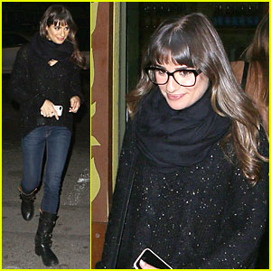 Lea Michele Drives Cory Monteith's Range Rover for Dinner
