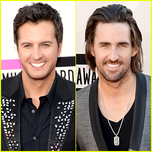Luke Bryan & Jake Owen - AMAs 2013 Red Carpet