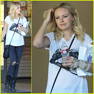 Malin Akerman Wears Arm Brace After Doctor's Visit