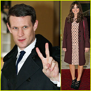 Matt Smith & Jenna Coleman: 'Doctor Who' 50th Anniversary Reception!