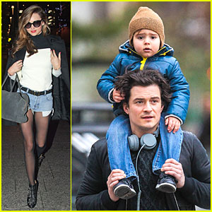 Miranda Kerr Flies to Japan, Orlando Bloom Bonds with Dad Harry