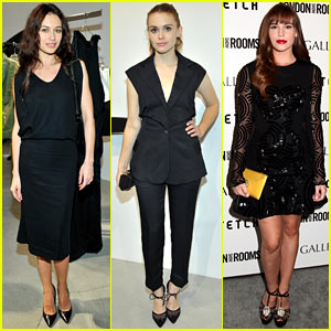 Olga Kurylenko & Holland Roden: London Show Room Opening!