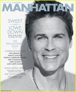 Rob Lowe Covers 'Manhattan' Magazine's Philanthropy Issue!