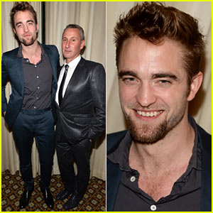 Robert Pattinson Shows Off Goatee at Go Go Gala