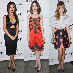 Selena Gomez & Lily Collins: 'Flaunt Magazine' Party Pair