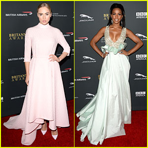 Suki Waterhouse & Kelly Rowland - BAFTA Britannia Awards 2013 Red Carpet