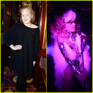 Adele Makes Rare Appearance to Attend Lady Gaga Concert ...
