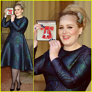 Adele receives royal british honor for services to music for Adel salon services