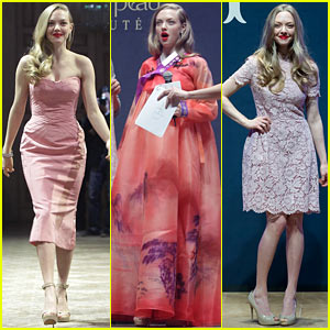 Amanda Seyfried: Cle De Peau Beaute Events in Seoul!