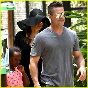 Angelina Jolie & Brad Pitt Visit the Zoo with All Six Kids!