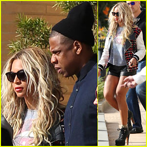 Beyonce Displays Legs for Days While Shopping with Jay Z!