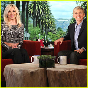 Britney spears professes love for david lucado on ellen britney spears just jared - Ellen show address ...