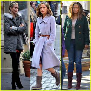 Cameron Diaz & Rose Byrne: 'Annie' Scenes with Tracie Thoms!