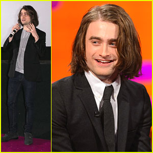 Daniel Radcliffe: Hair Extensions at 'Kill Your Darlings' Cineworld Screening