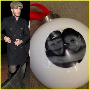 David & Victoria Beckham Featured on Christmas Ornament!